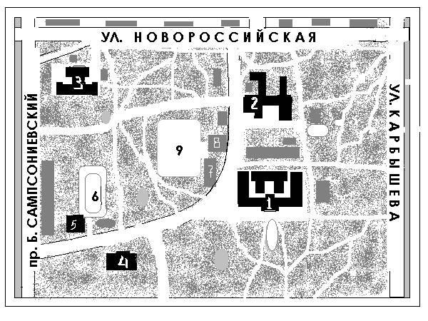 Схема лесотехнической академии